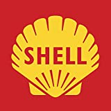 TNND Shell Gasoline Logo Circa Plaques and Signs Outdoor Aluminum Metal Sign 12X12 Inches