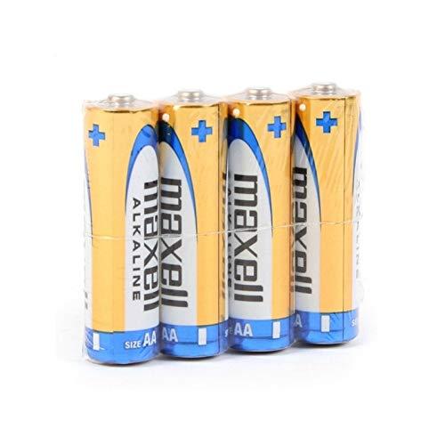 Maxell 790223.04.CN Alkaline Batterie, Mignon AA, 4 Pack Shrink