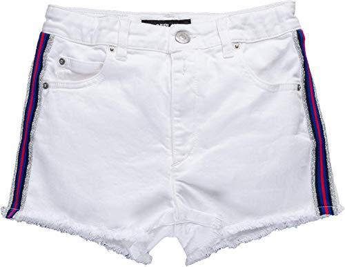 Replay Mädchen SG9594.050.8005201 Shorts, Weiß (White 001), 128 (Herstellergröße: 8A)