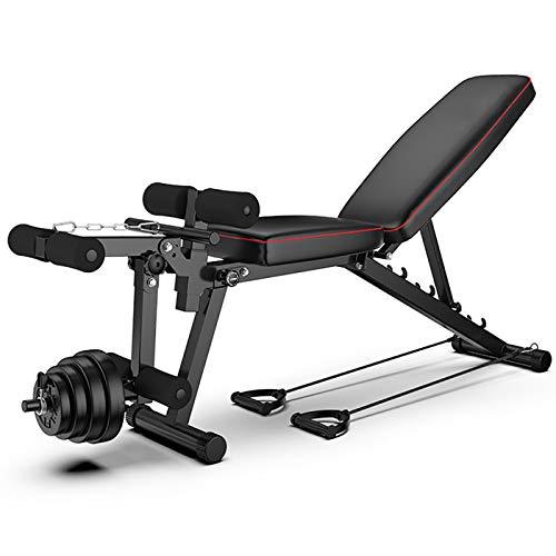 PYXZQW Verstellbares Gewicht Bank Rack Set, Langhantel Lifting Press Gym Ausrüstung Übung Verstellbare Steigung Fitness Langhantel Hantel Training