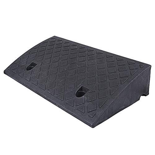 CQILONG Rampa De Bordillo, Eléctrico Scooter PVC Rampa Antideslizante Accesibilidad Alfombra De Rampa Sin Costura Empalme, 6 Tamaños (Color : Black, Size : 50X27X11CM)