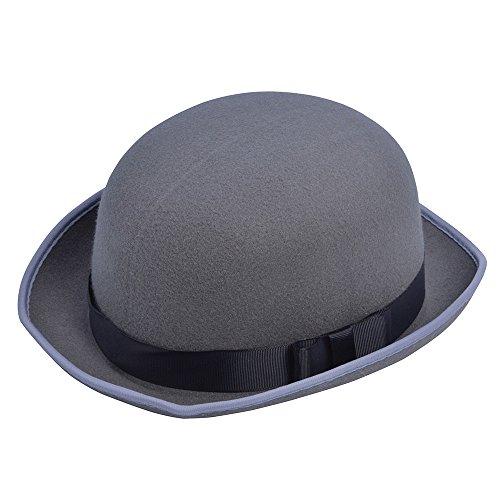 Bristol Novelty BH606 Chapeau melon gris, unisexe, adulte, taille unique