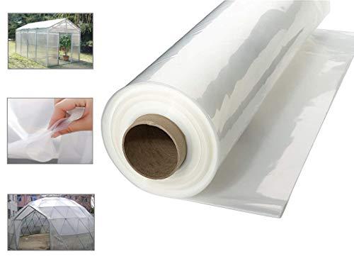 JHKJ Kunststoff Abgedeckt Transparente Polyethylen Gewächshausfolie, UV-Beständig,3X6M_9.8X19.6FT