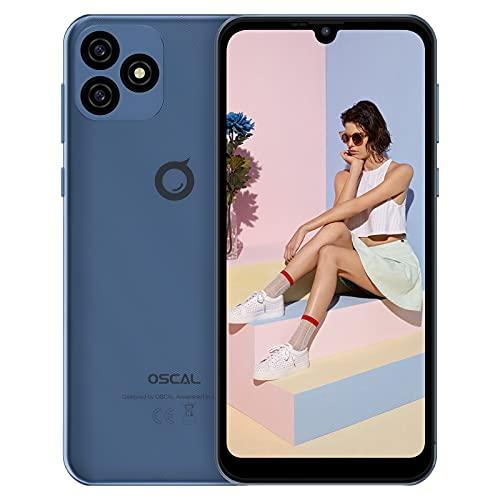 "Telephone Portable pas cher, OSCAL C20 Android 11 Smartphone (32Go ROM/SD-128Go Quad-core, Ecran Waterdrop 6.1""+HD, 3380mAh, 3G Dual SIM,5MP+2MP) Smartphone debloque, GPS/WiFi/FM/2Ans de Garantie-Bleu"