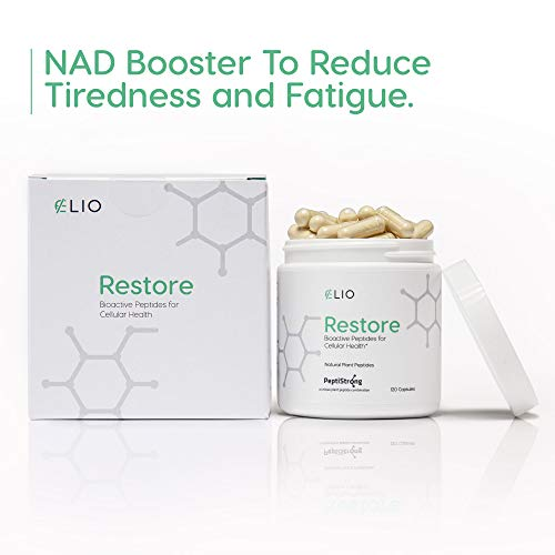 41z9JtYCURL - Elio Restore NAD+ Boost Supplement - Anti-Aging Formula & Increase Cellular Health (Works with Nicotinamide Riboside) - Energy & Metabolism Support - 120 Vegetarian Capsules