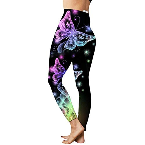 ArcherWlh Yoga Pants For Women Butt Lifting,3D Print Women s Jeggings Workout Leggings For Fitness Gym High Waist Sport Running Skinny Pants-Purple 4_XXL