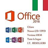 Office 2016 Professional Plus (codice chiave + collegamento per il download tramite e-mail) per 1 PC 1 utente Nessun CD / Dvd / USB è stato spedito