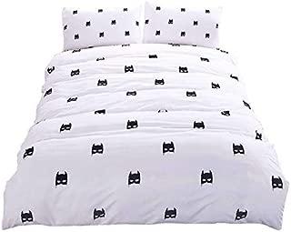 LightInTheBox Bedding Outlet Batman Bedding Set Plain Printed Bed Cover Stylish Soft Qualified Bedclothes Multi Sizes 3pcs Duvet Cover Set (King)