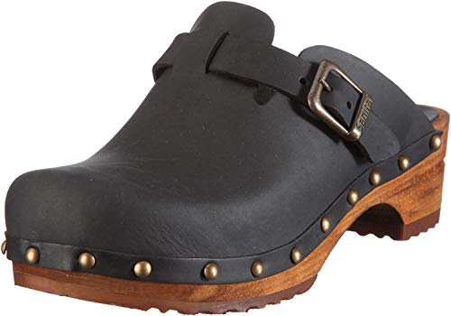 Sanita Damen Kristel Open Clogs, Schwarz (Black 2), 41 EU