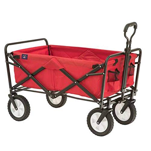 MacSports Collapsible Folding Outdoor Utility Wagon, Red thumbnail image
