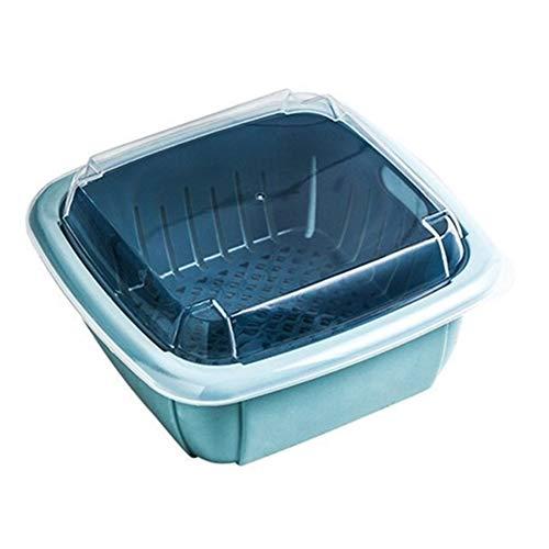 Rysmliuhan Shop Colapasta Bacinella Pieghevole Campeggio Setaccio Riso Sink Cestello Filtro da Cucina Piccolo Colino Blue,One Size