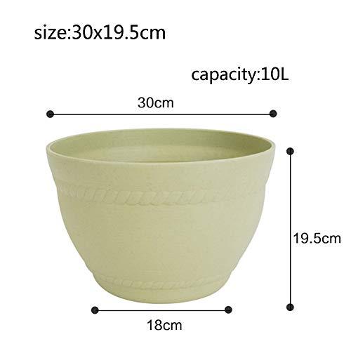 Indoor Plein air Créatif Rond Plastique Pot de Fleur Balcon Bonsaï Pot de Fleur-I 10L