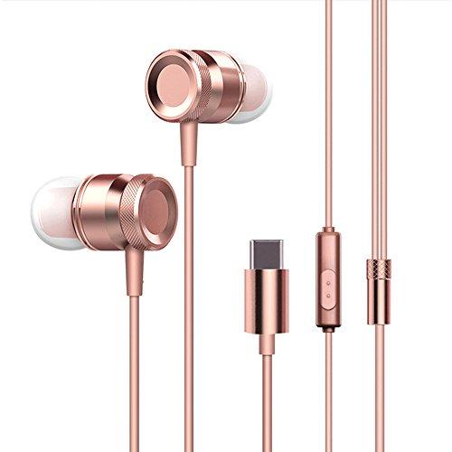 Docooler USB Type-C In-Ear Wired Metal Earphone Headset USB-C Earphone Earbuds In-Line Control w/Mic for 6 Note 3 Mix 2 Letv LeEco Le 2 3 Smartisan Pro Pro 2