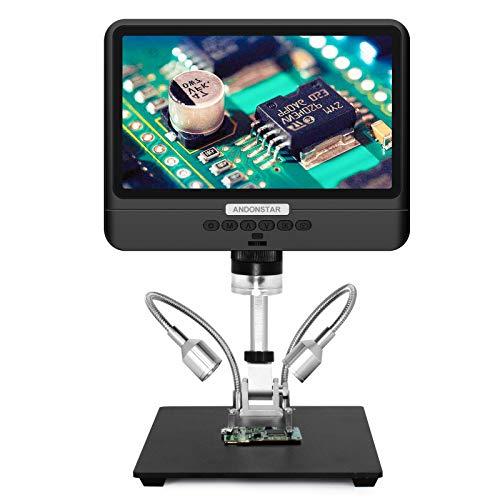 Andonstar AD208 Microscopio de monedas con pantalla de 8,5 pulgadas 260X LCD Laboratorio de mano USB Microscopios digitales para reparación de PCB soldadura colección de monedas