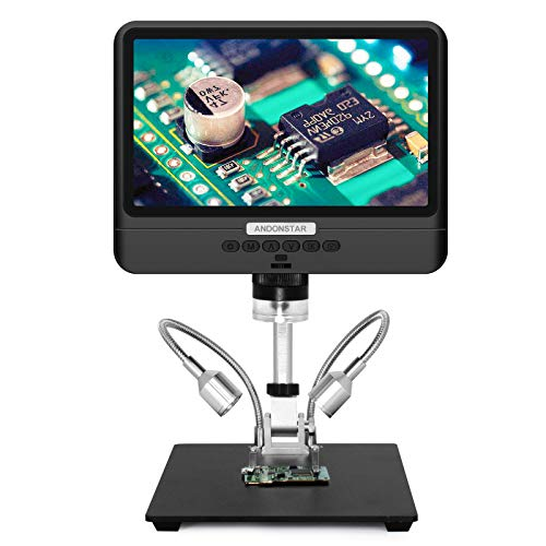Andonstar AD208 Coin Microscope with 8.5 Inch Screen 260X LCD Lab Handheld USB Digital Microscopes for PCB Repair Soldering Coin Inspection