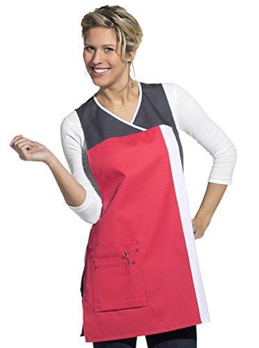 Delantal de casulla de señora (III = 48-56, rosa intenso/gris)