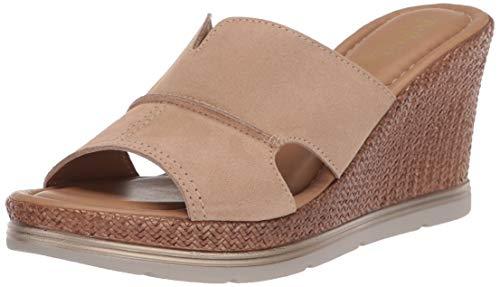 Bella Vita womens Wedge Sandal, Beige Suede Leather, 5 US