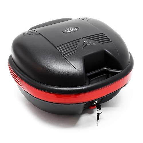 Top Case 31L matt schwarz Koffer für Roller, Motorrad oder Quad, Helmkoffer Motorradkoffer