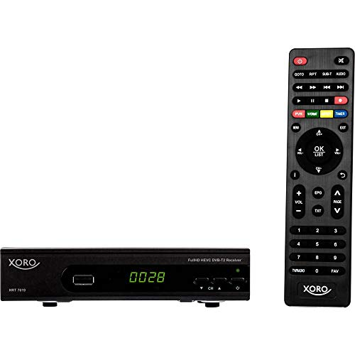 Xoro HRT 7620 SMART Terrestrischer Receiver, schwarz, DVB-T/T2 HD, HDMI, LAN