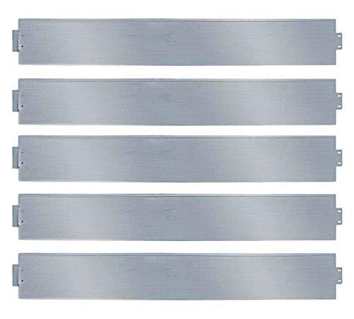 VINGO Rasenkante Verzinkt, 5m Beetumrandung Metall, 100x14cm Beetumrandung Beetumrandung Mähkante Metall Palisade (Länge 5m - Höhe 14cm)