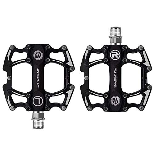 HQCM Mountain Bike Pedals, Super Bearing Cycling Road Aluminium Alloy Bicycle Flat Platform with...