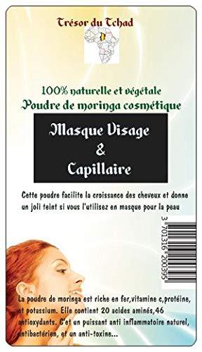 Poudre de moringa cosmétique pour Masque visage & capillaire 100% naturel & végétal (ce produit est issu du commerce équitable)