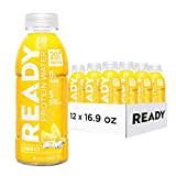 Ready Protein Water, 20g of Whey Protein Isolate, Sugar Free, Lemon Ice, 12-Pack, 16.9 Fluid Ounces Each