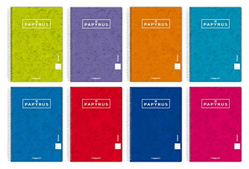 Unipapel Pack de 5 Cuadernos, Papyrus 03-Uniclasic, Papel 90g, 80 Hojas, Colores Surtidos Aleatorios, 98441096