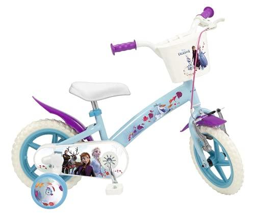 Toimsa Bicicletta Frozen 2 Elsa Anna Olaf Disney 12' età 3/5 Anni - ROTELLE E Cestino 0