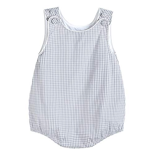 Lil Cactus Baby & Toddler Boys Seersucker or Gingham One-Piece Bubble Romper, Gray Gingham, 2T