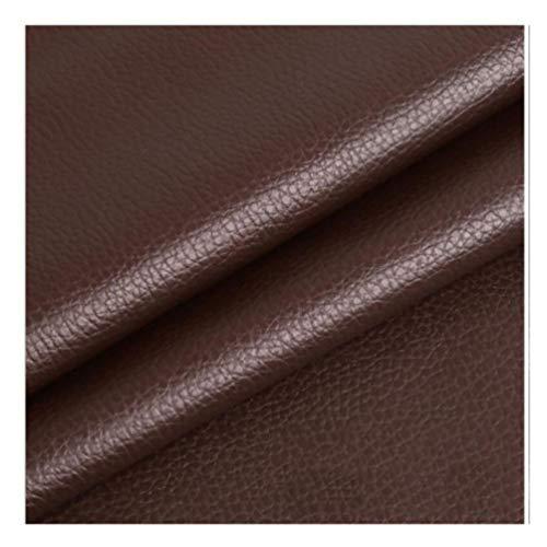 Polipiel para tapizar, Manualidades, Cojines o forrar Objetos. para reparación de sofás Costura Elaboración Proyectos de bricolaje Sofá Asientos de Coche lichi fino Ancho 1,38m-Marrón oscuro 1.38×1m