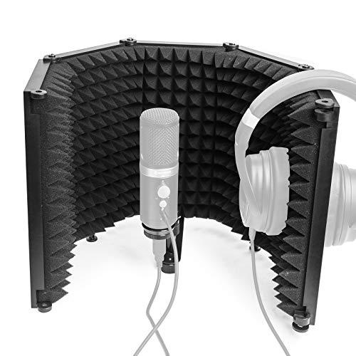 Moman RF30 Escudo-Aislamiento-Micrófono-Filtro-Reflexión para Cualquier Micrófono Condensador Estudio Grabación, Antipop Reflector de...