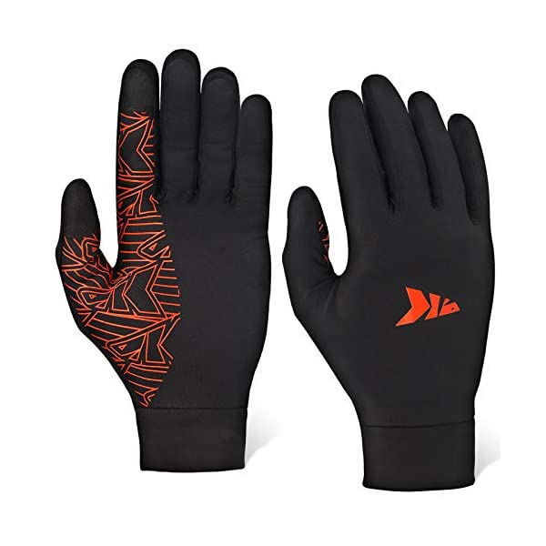 KastKing Morning Frost Liner Gloves – Thermal Touch Screen Running Glove Liners