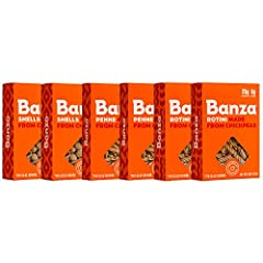 Banza chickpea pasta is a high protein, lower carb, gluten free alternative to traditional pasta. Each serving has 2x the protein, 3x the fiber, and 1/2 the net carbs of traditional pasta. Try substituting Banza for an easy and healthy family meal. P...