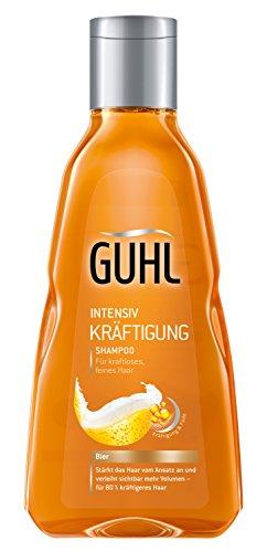 Guhl Intensiv Kräftigung Shampoo - 2er Pack (2 x 250 ml) - mit Bier - stärkt das Haar und schenkt Volumen -  für feines, kraftloses Haar