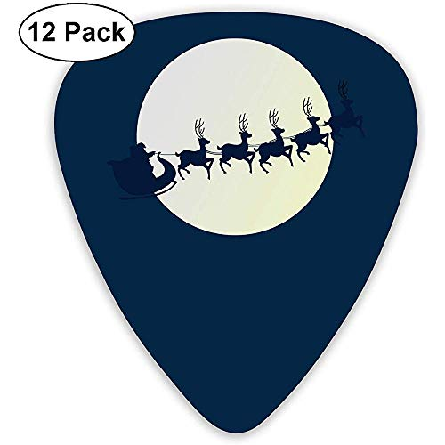Reindeer Kerstman Gitaar Pick Set Gitaar Bas Mandolin Ukulele 0.46mm 0.71mm 0.96mm 12 Pack Gitaar Picks Plectrums Picks Houder