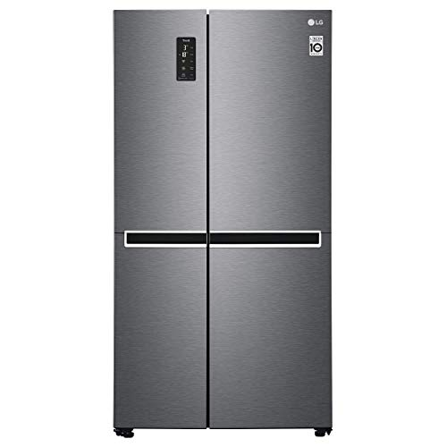 LG GSB470BASZ Frigorifero Americano Side by Side Total No Frost con Congelatore, 642 L, Smart Diagnosis - Frigo Smart con Wi-Fi e Display LED Esterno