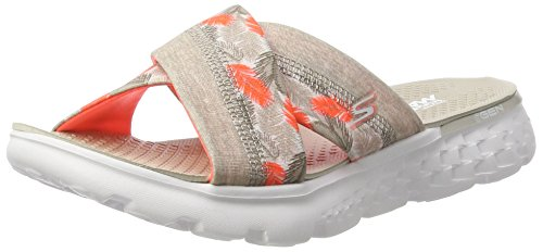 Skechers Damen On-The-Go 400-Tropical Sandalen, Grau (ntcl), 38 EU