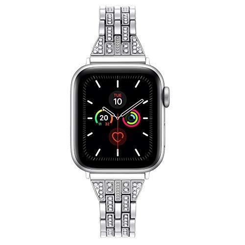 VEECANS Cinturino Compatibile per Apple Watch 38mm 42mm 40mm 44mm Cinturini di Ricambio per Orologio iWatch Serie 5 4 3 2 1 (38mm/40mm, Argento)