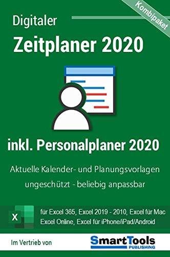 Zeitplaner 2020 + Personalplaner 2020 für Excel 365, 2019, 2016, 2013, 2010, 2007 und Office 365 - Kalender- und Planungsvorlagen für alle Excel-Versionen, Office 365, Excel für Mac, iOS/Android