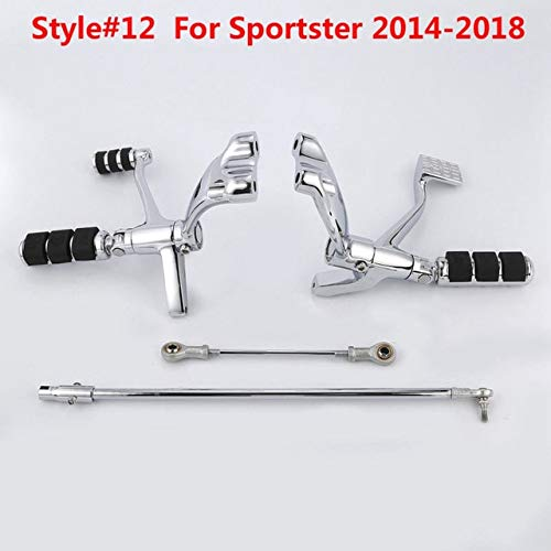 Frames & Fittings Motorcycle Motorbike Forward Control Pegs Linkages for Harley Sportster XL 883 1200 91-03 04-13 14-19 - (Color: Style 12)