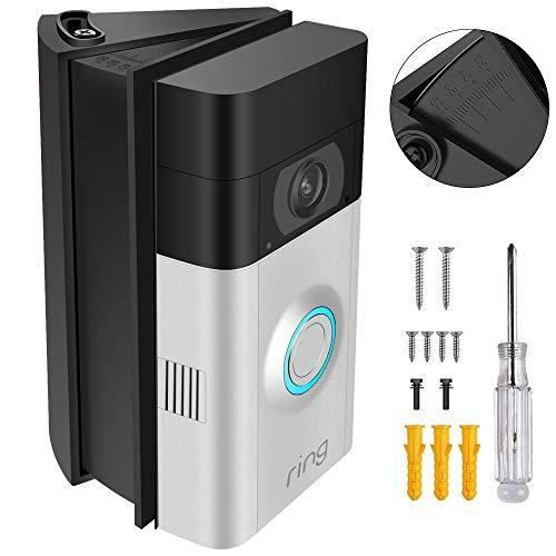 KIMILAR Soporte Ajustable del Montaje del ángulo para Ring Video Doorbell / Ring Video Doorbell 2 - 30 a 55 Grado, Negro