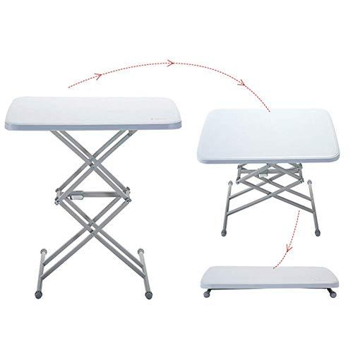 Klappbarer Camping-Tisch Tragbarer Picknicktisch Wasserdichter, höhenverstellbarer Klapptisch für die Gartenpatio BBQ Party Fishing Lili