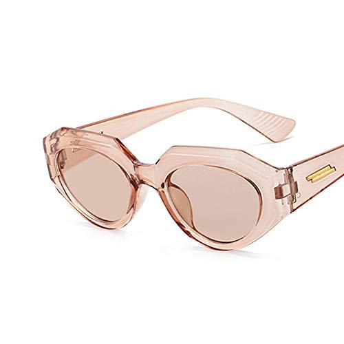 Nuevo lujo vintage gato ojo gafas de sol mujeres moda cuadrada gafas de sol hembra retro tonos negros UV400 gafas de sol gafas de ojos moda gafas de sol para mujeres ( Lenses Color : C11 FullBrown )