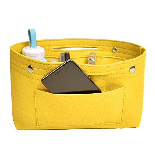 NOTAG Taschenorganizer Handtasche Kosmetik Organizer Tasche Organizer Leichte Große Kapazität Aufbewahrungstasche Accessoires Kosmetiktasche 6 Farben (L, Gelb)