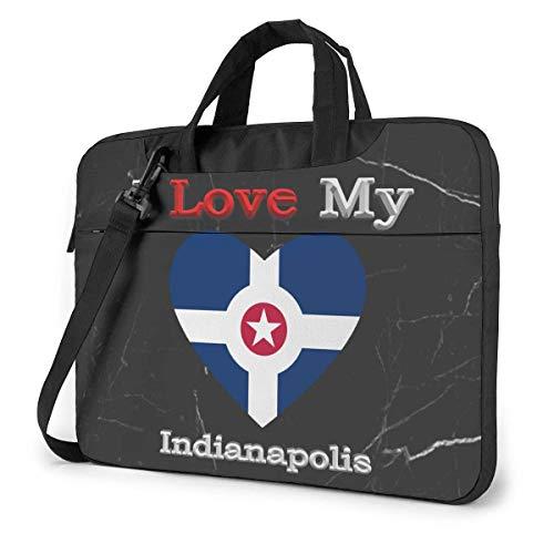 I Love My Flag of Indi-anapolis Heart Laptop Bag Un Hombro a...