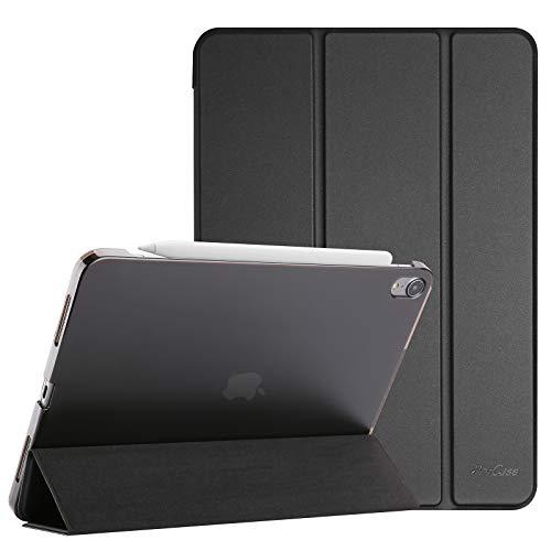 ProHülle Hülle für iPad Air 4 Generation 10.9 Zoll 2020, Schutzhülle Hülle(Unterstützt 2. Gen iPencil Aufladen), Ultra Dünn Leicht Ständer Schal Smart Cover mit Transluzent Frosted Rück –Schwarz