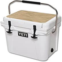 MightySkins (Cooler Not Included) Skin Compatible with YETI Roadie 20 qt Cooler Lid wrap Cover Sticker Skins Light Zebra Wood