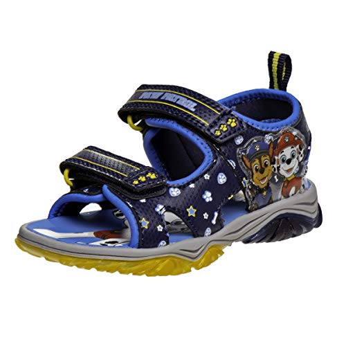 Nickelodeon Boys' Paw Patrol Sandals ? Adjustable Strap Summer Sports Sandals (Toddler/Little Kid), Size 10 Toddler, Paw Patrol Chase/Marshal
