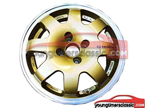 Llanta Speedline Clio GRA Gold con borde pulido en 15 pulgadas